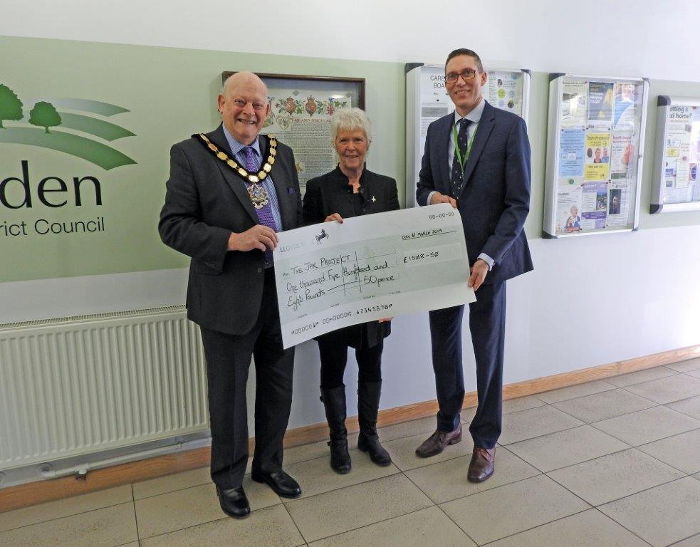 Wealden District Council Cheque donation to the JPK Project