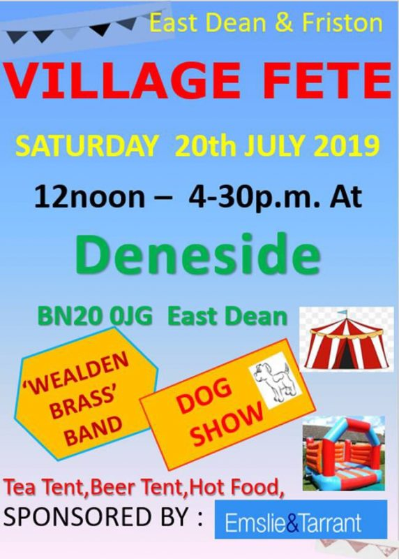 East Dean & Friston Village Fete 2019